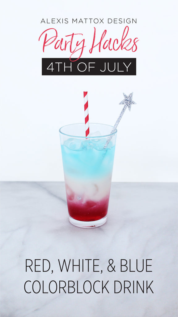Red, White, and Blue Colorblock Drink