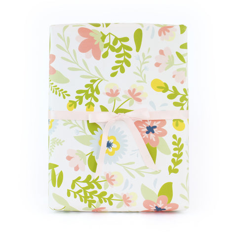 Cream Floral Wrapping Paper