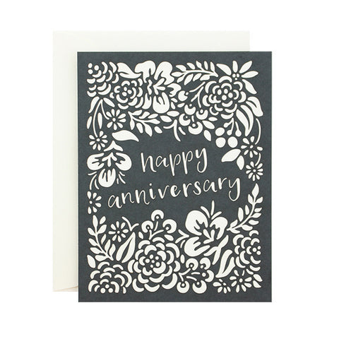 Happy Anniversary Laser Cut Card