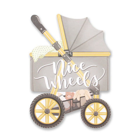 Nice Wheels Stroller Die Cut Card