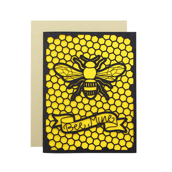 Bee Mine Laser Cut Card