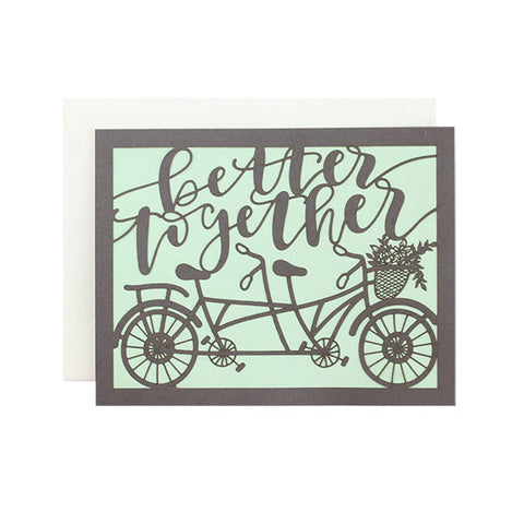 Better Together Laser Cut Card