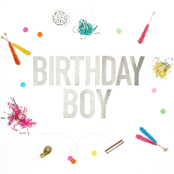 BIRTHDAY BOY Glitter Banner