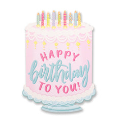 Birthday Cake Die Cut Card