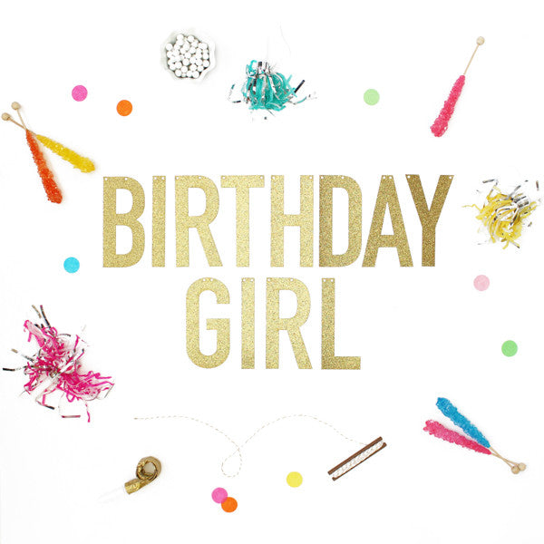 BIRTHDAY GIRL Glitter Banner