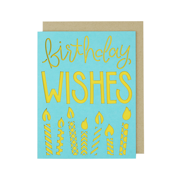 Birthday Wishes Laser Cut Card