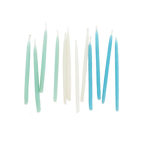 Hand-dipped Beeswax Birthday Candles - Cool Set