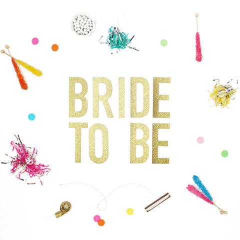 BRIDE TO BE Glitter Banner