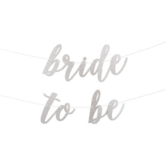 Bride To Be Script Glitter Banner