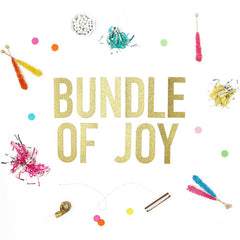 BUNDLE OF JOY Glitter Banner