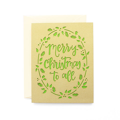 Merry Christmas to All Laser Cut Card