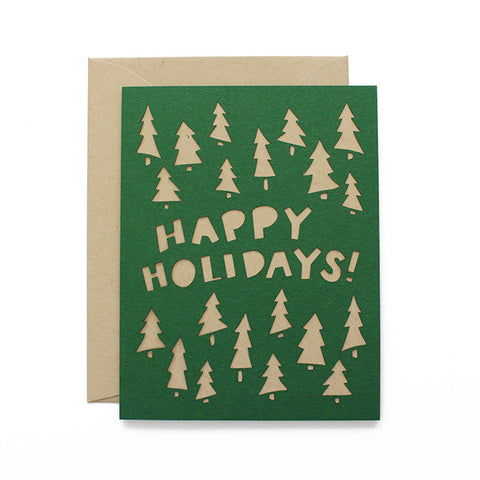 Happy Holidays! Laser Cut Card