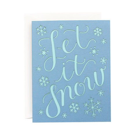 Let It Snow Laser Cut Card