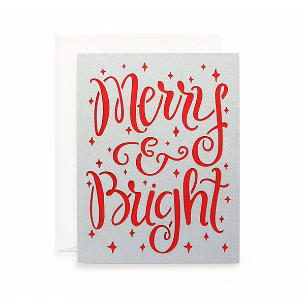 Merry and Bright Laser Cut Card