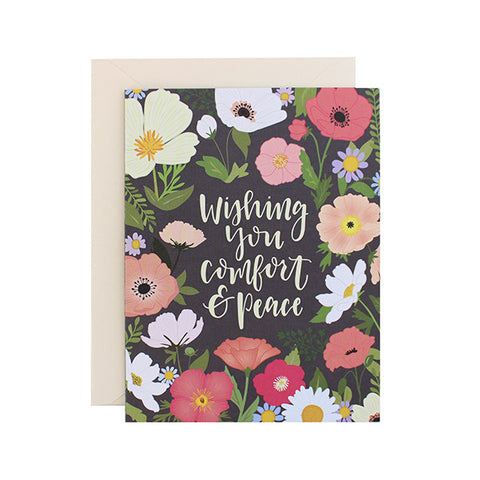 Wishing You Comfort & Peace Card