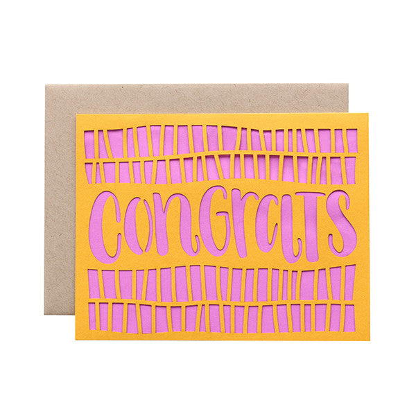 Congrats Laser Cut Card