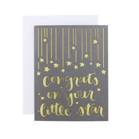 Congrats On Your Little Star Laser Cut Card