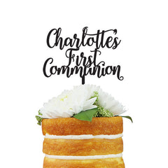 Custom First Communion Cake Topper