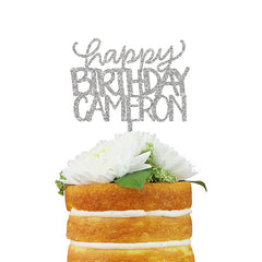 Custom Happy Birthday Cake Topper