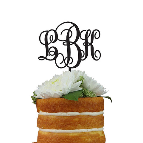 Custom Cake Topper- Three Letter Monogram