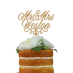 Custom Cake Topper- Mr & Mrs