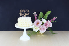Custom Mr & Mrs Cake Topper