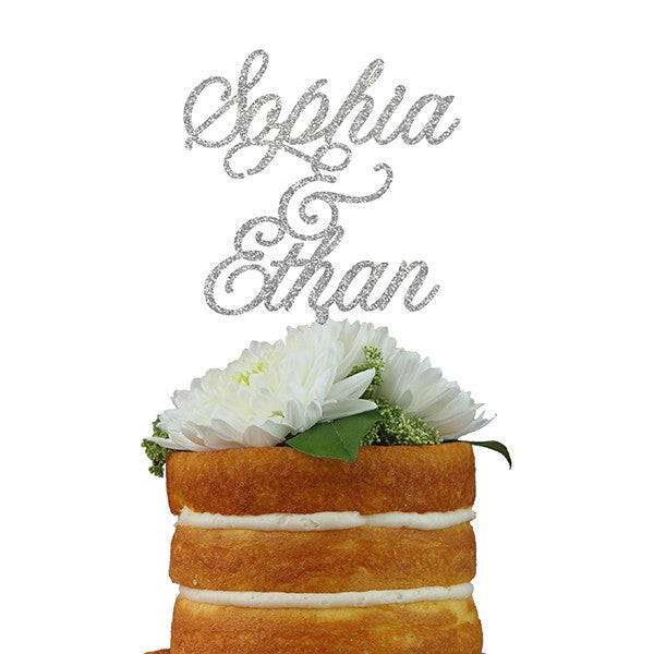 Custom Cake Topper- Double Name for Couples