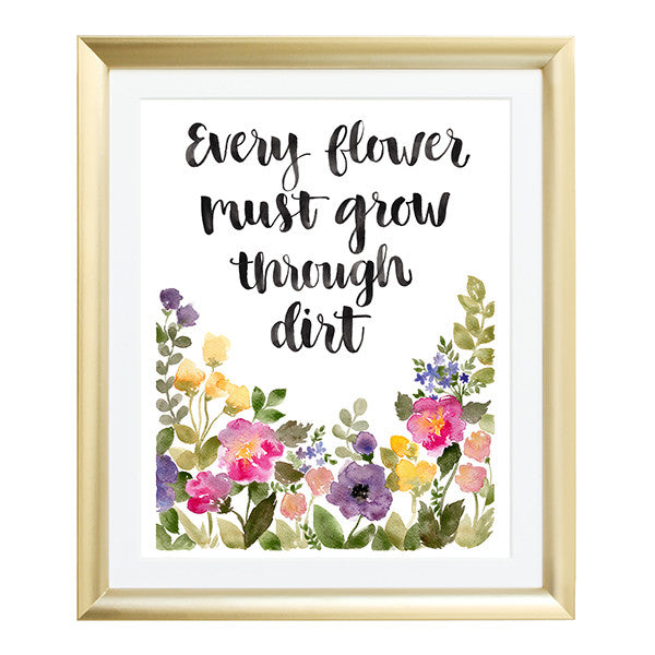 Every Flower Watercolor Art Print