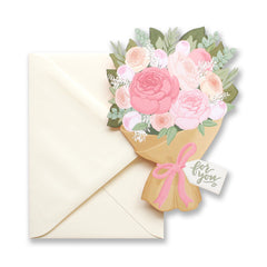 For You Bouquet Die Cut Card