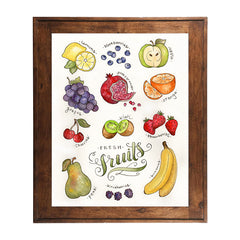 Watercolor Fruit Art Print