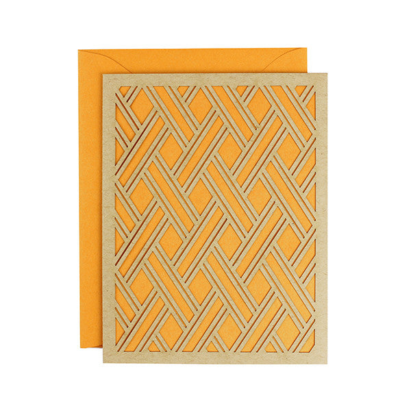 Pumpkin Orange Geometric Card