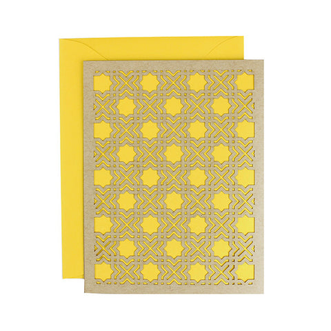 Daffodil Geometric Laser Cut Card