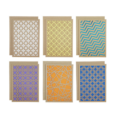 Geometric Laser Cut Card Set