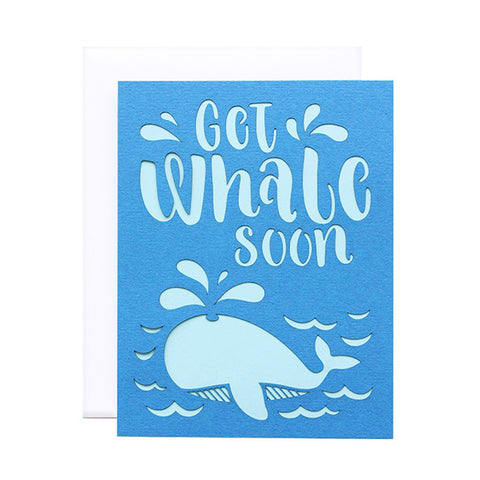 Get Whale Soon Laser Cut Card