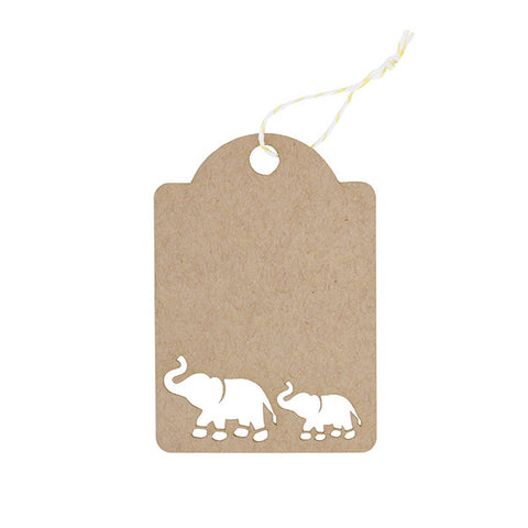Gift tags alexis mattox design elephant laser cut tag set negle Image collections