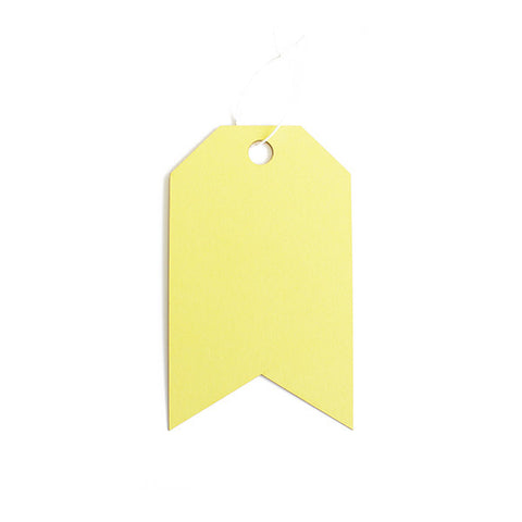 Lemon Chiffon Tag Set
