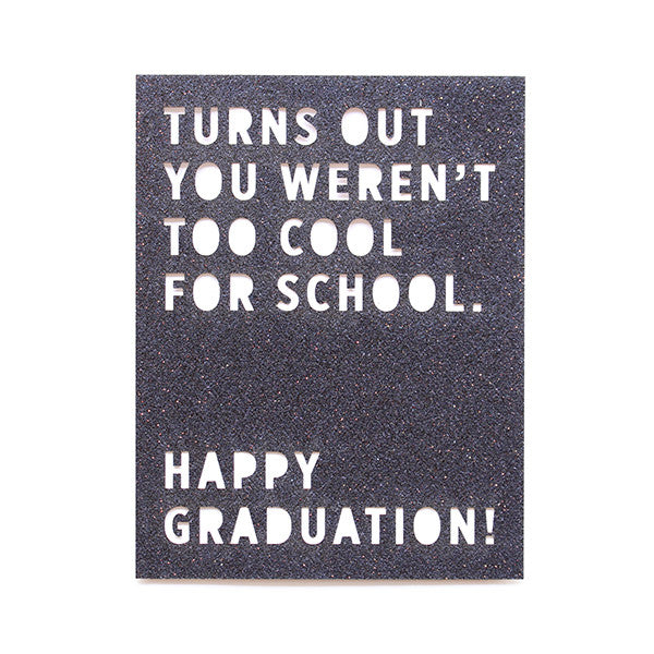 Happy Graduation! Glitter Card