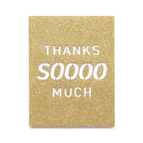 Thanks Soooo Much Glitter Card