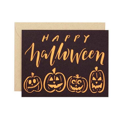 Happy Halloween Laser Cut Card