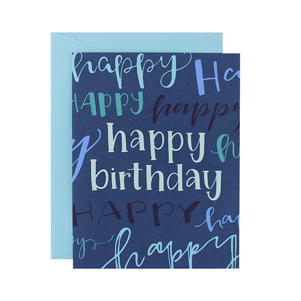 Happy Birthday Lettered Card