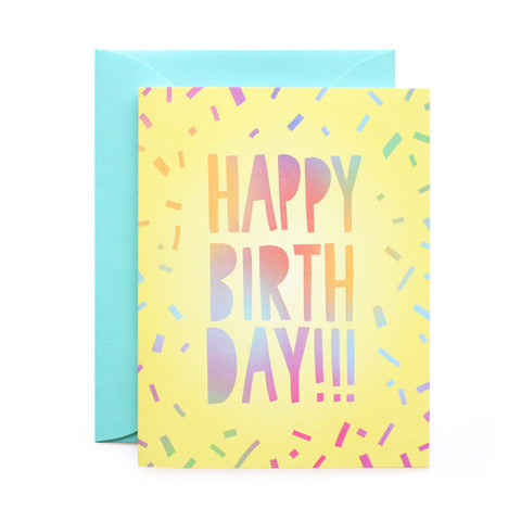 Happy Birthday Ombre Card