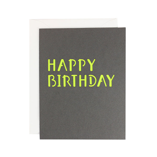 Minimal Happy Birthday Laser Cut Card