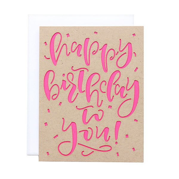Happy Birthday To You Laser Cut Card