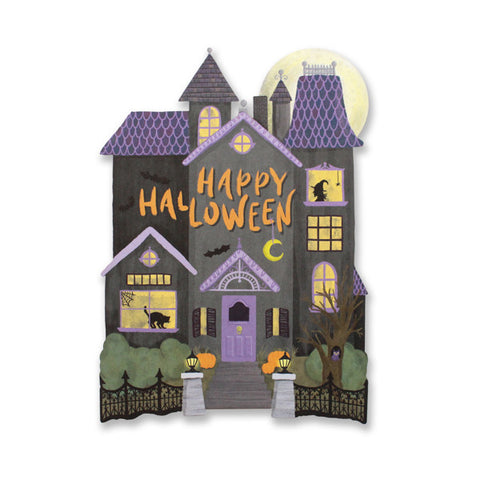 Haunted House Halloween Die Cut Card