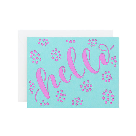 Hello Dots Laser Cut Card