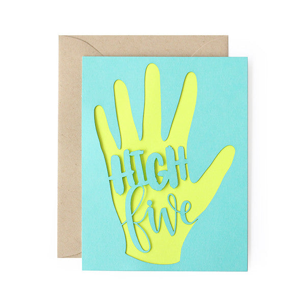 High Five Laser Cut Card