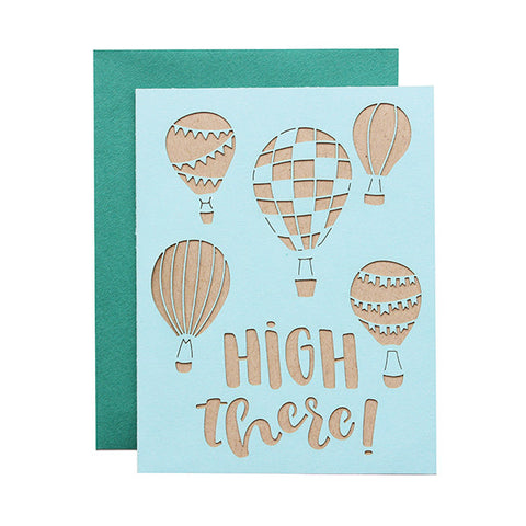High There Laser Cut Card
