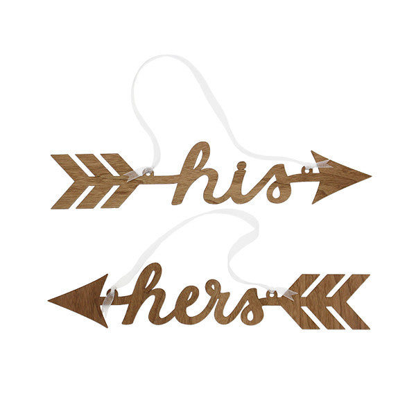 His & Hers Arrow Chair Signs