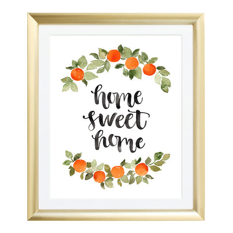 Home Sweet Home Watercolor Art Print