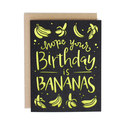 Bananas Birthday Laser Cut Card